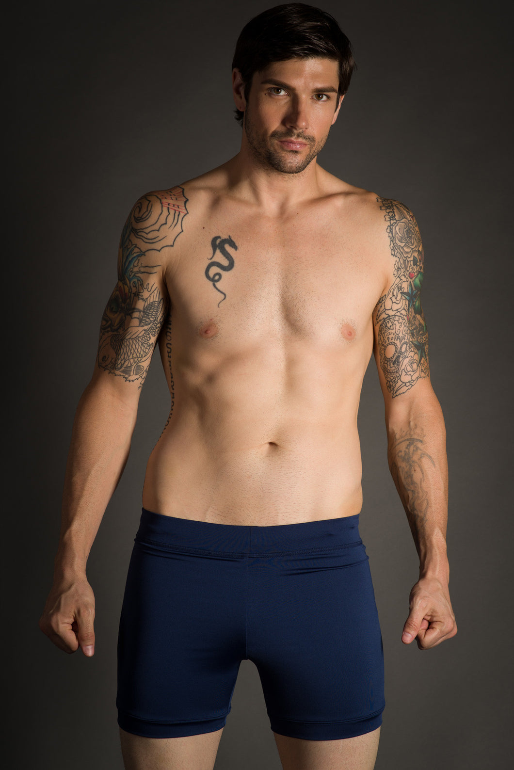Blue Men's Hot Yoga Shorts