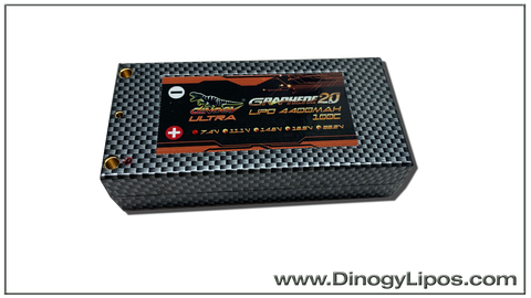 Dinogy Graphene 2.0 4400mAh 2S 100C Shorty