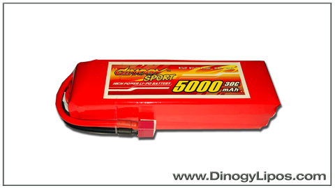 Dinogy 5s 5000mAh  30C Light Pattern Plane Lipo