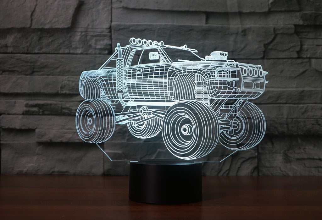 MONSTER TRUCK 3D  Lamp 8 Changeable Color [FREE SHIPPING]