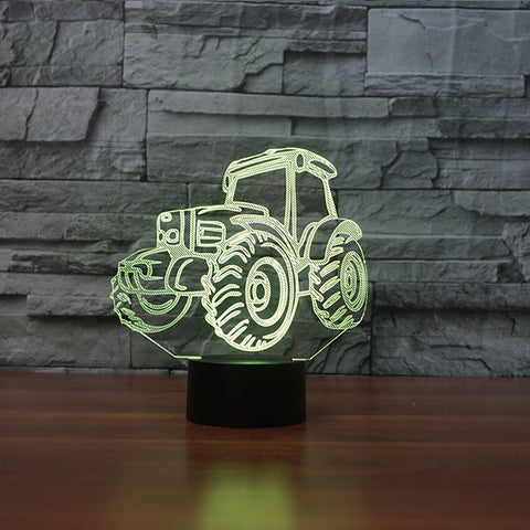 TRACTOR II 3D Lamp 8 Changeable Colors big size [FREE SHIPPING]