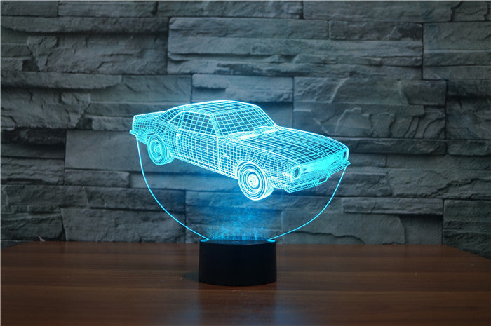 OLD MUSCLE CAR 3D Lamp 8 Changeable Colors big size [FREE SHIPPING]
