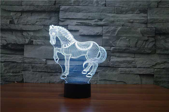 GALLOPING HORSE 3D Lamp 8 Changeable Colors  [FREE SHIPPING]