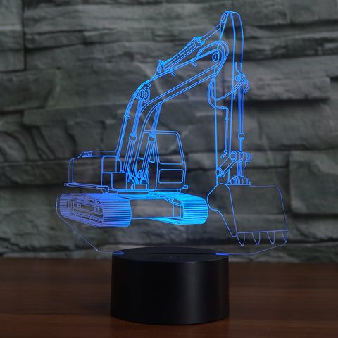 EXCAVATOR 3D Lamp 8 Changeable Colors big size [FREE SHIPPING]