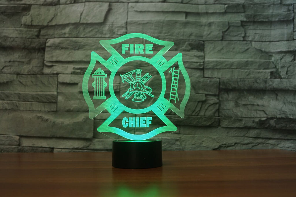 FIRE CHIEF 3D Lamp 8 Changeable Colors  [FREE SHIPPING]