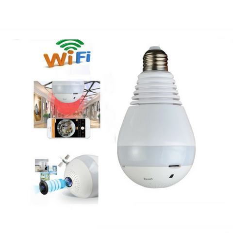 Wireless IP Camera Bulb Light Wi-fi FishEye 960P 360 degree Mini CCTV VR Camera