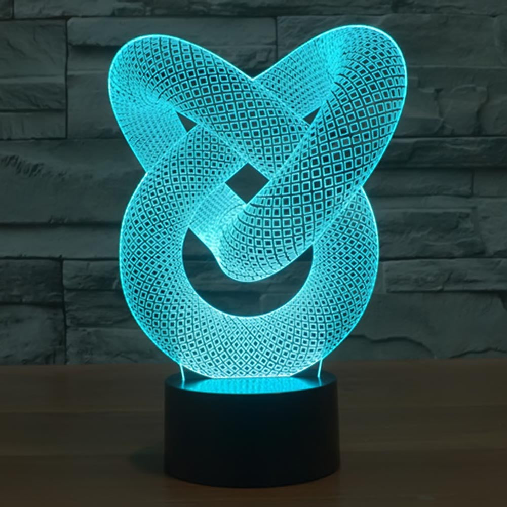 LOVE Knot 3D Lamp 8 Changeable Color  [FREE SHIPPING]