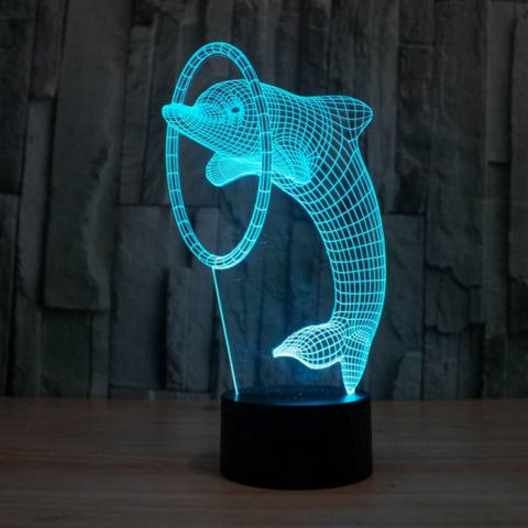 DAULPHIN/RING  3D Lamp 8 Changeable Color  [FREE SHIPPING]