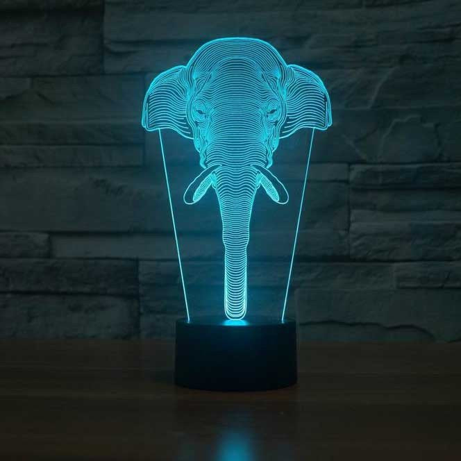 Elephant 3D Lamp 8 Changeable Colors big size [FREE SHIPPING]