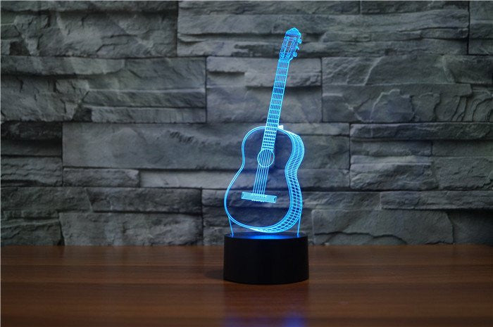 GUITAR 3D  Lamp 8 Changeable Color [FREE SHIPPING]