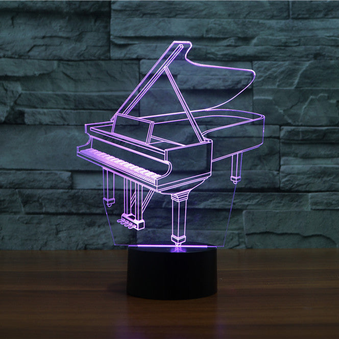 PIANO  3D  Lamp 8 Changeable Color [FREE SHIPPING]