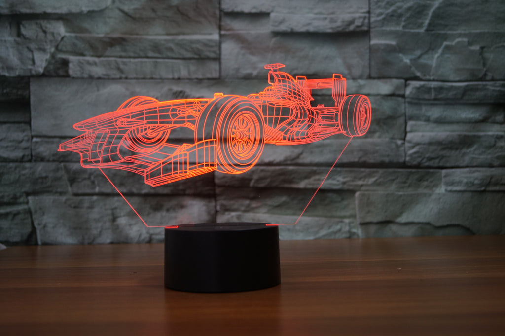 F1 RACE CAR 3D  Lamp 8 Changeable Color [FREE SHIPPING]