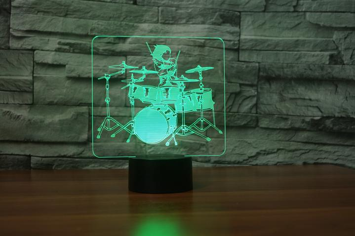 DRUMER 3D  Lamp 8 Changeable Color [FREE SHIPPING]