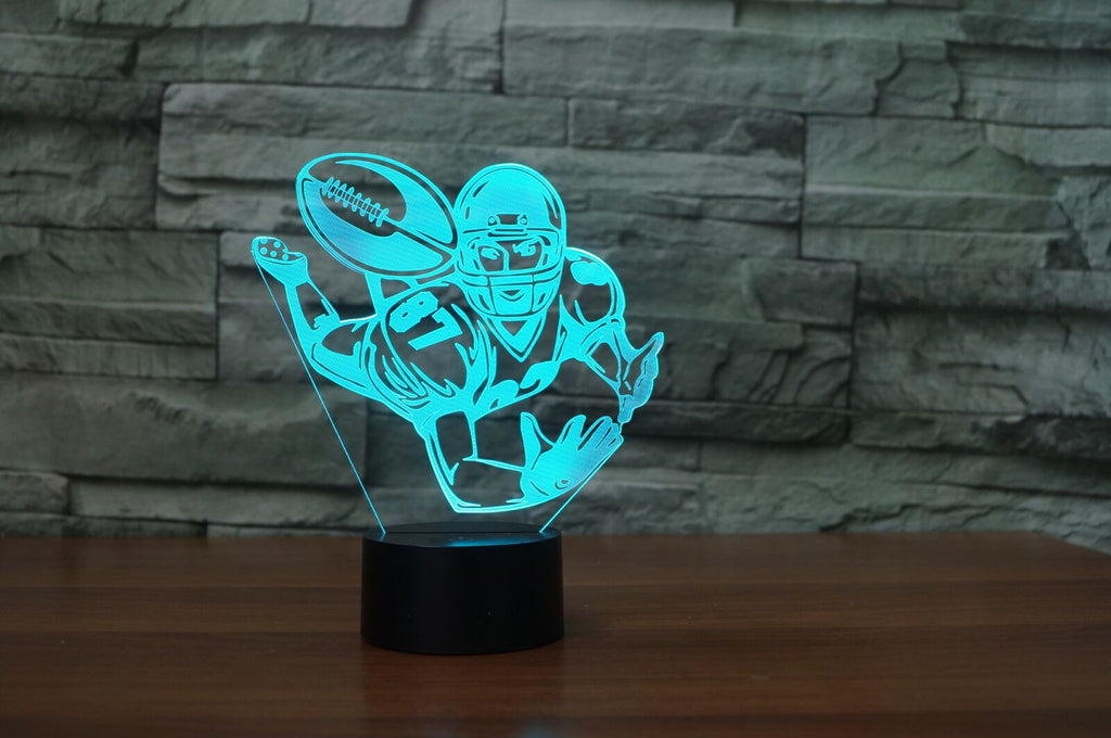 FOOTBALL 3D Lamp 8 Changeable Colors big size [FREE SHIPPING]