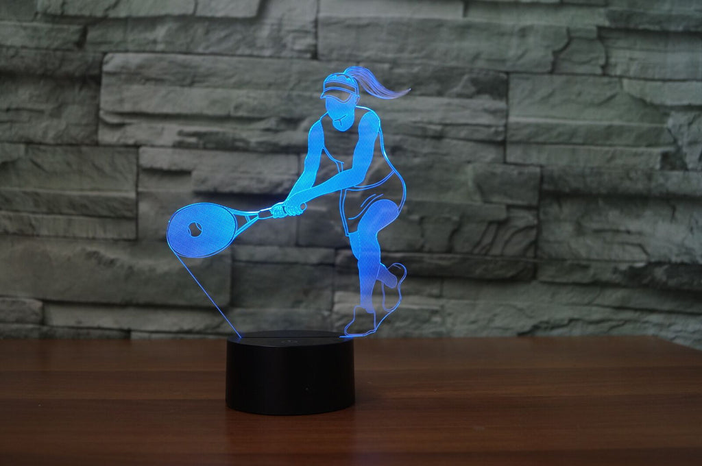 TENNIS WOMEN 3D Lamp 8 Changeable Colors big size [FREE SHIPPING]