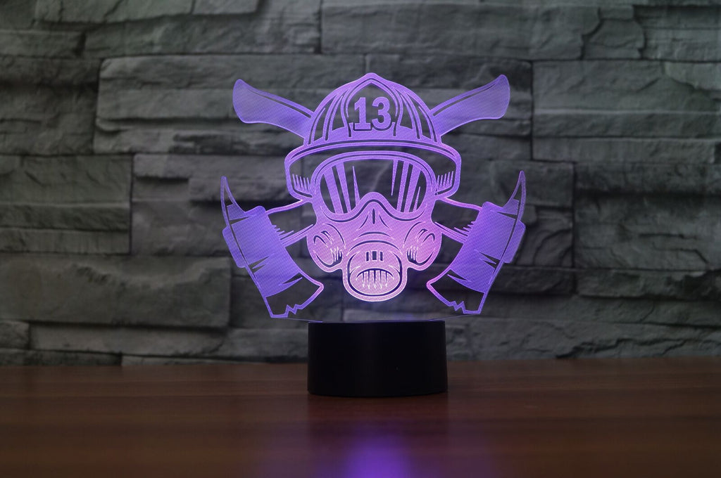 FIREFIGHTER 3D Lamp 8 Changeable Colors [FREE SHIPPING]