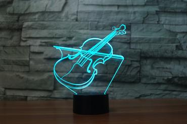 VIOLIN 2  3D  Lamp 8 Changeable Color [FREE SHIPPING]