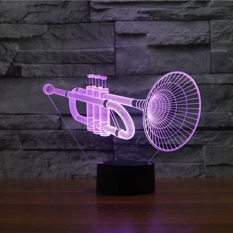 TRUMPET  3D  Lamp 8 Changeable Color [FREE SHIPPING]