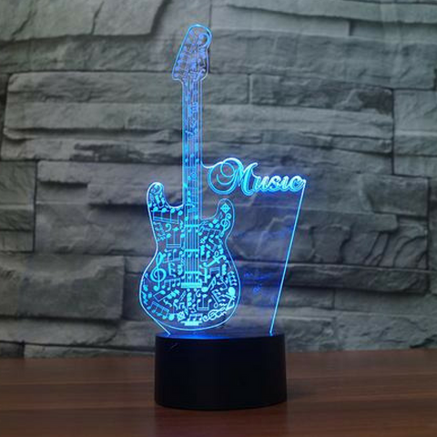 ELECTRIC GUITAR  3D  Lamp 8 Changeable Color [FREE SHIPPING]