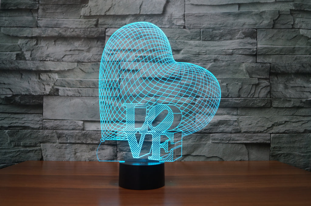 LOVE HEART Lamp 8 Changeable Color [FREE SHIPPING]