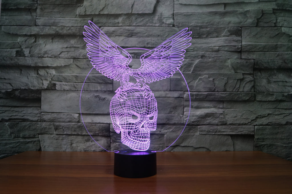 EAGLE SKULL 3D Lamp 8 Changeable Color [FREE SHIPPING]