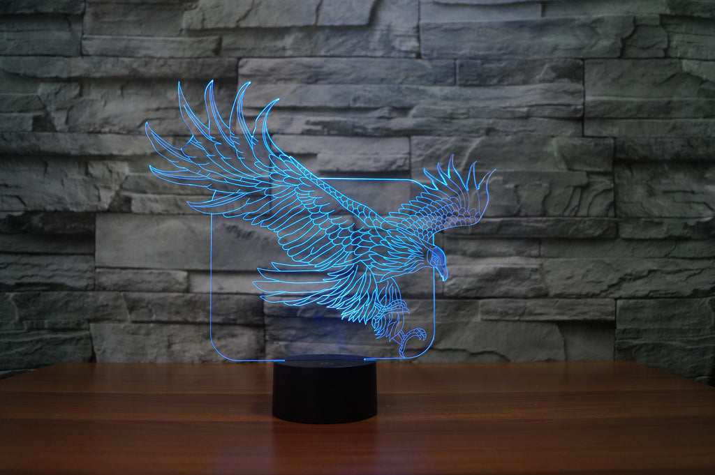 EAGLE  3D Lamp 8 Changeable Color  [FREE SHIPPING]