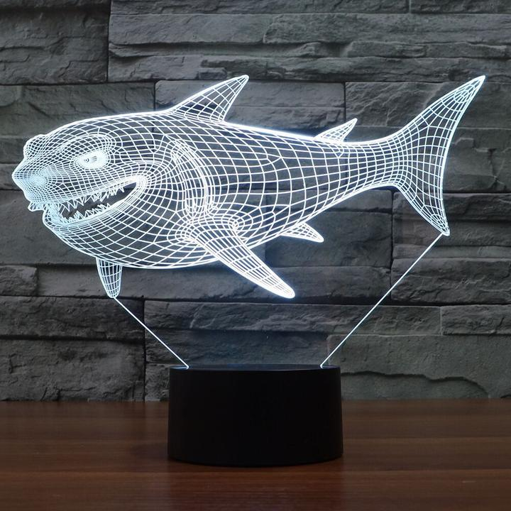 SHARK3D  Lamp 8 Changeable Color [FREE SHIPPING]