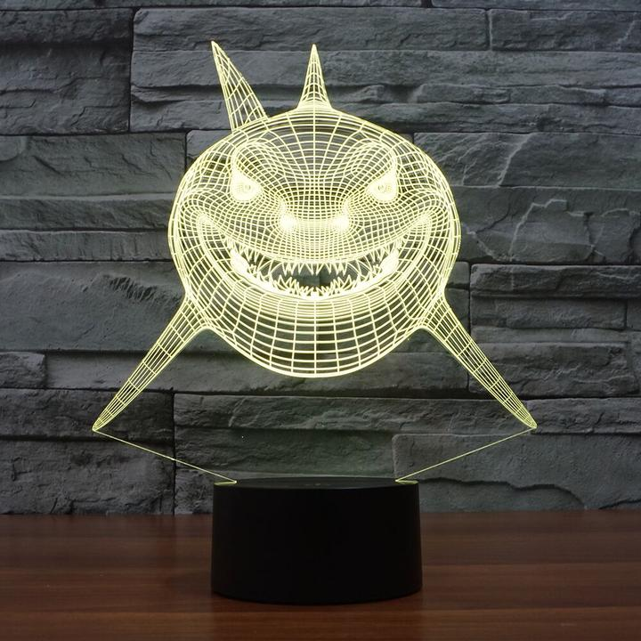 SHARK2 3D  Lamp 8 Changeable Color [FREE SHIPPING]