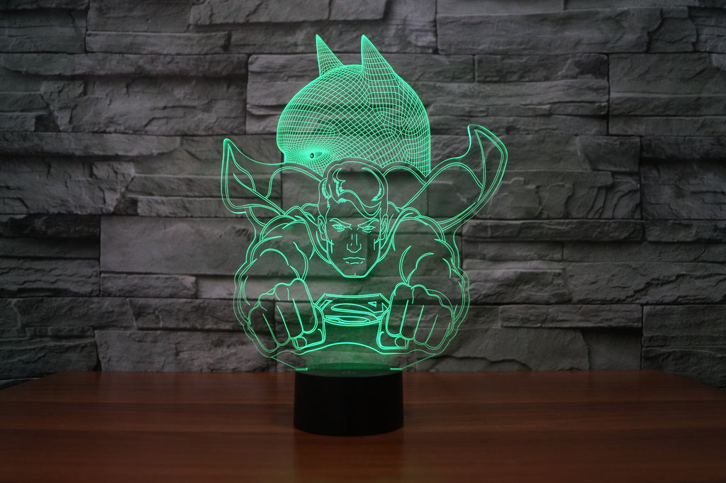 BATMAN/SUPERMAN 3D Lamp 8 Changeable Color [FREE SHIPPING]