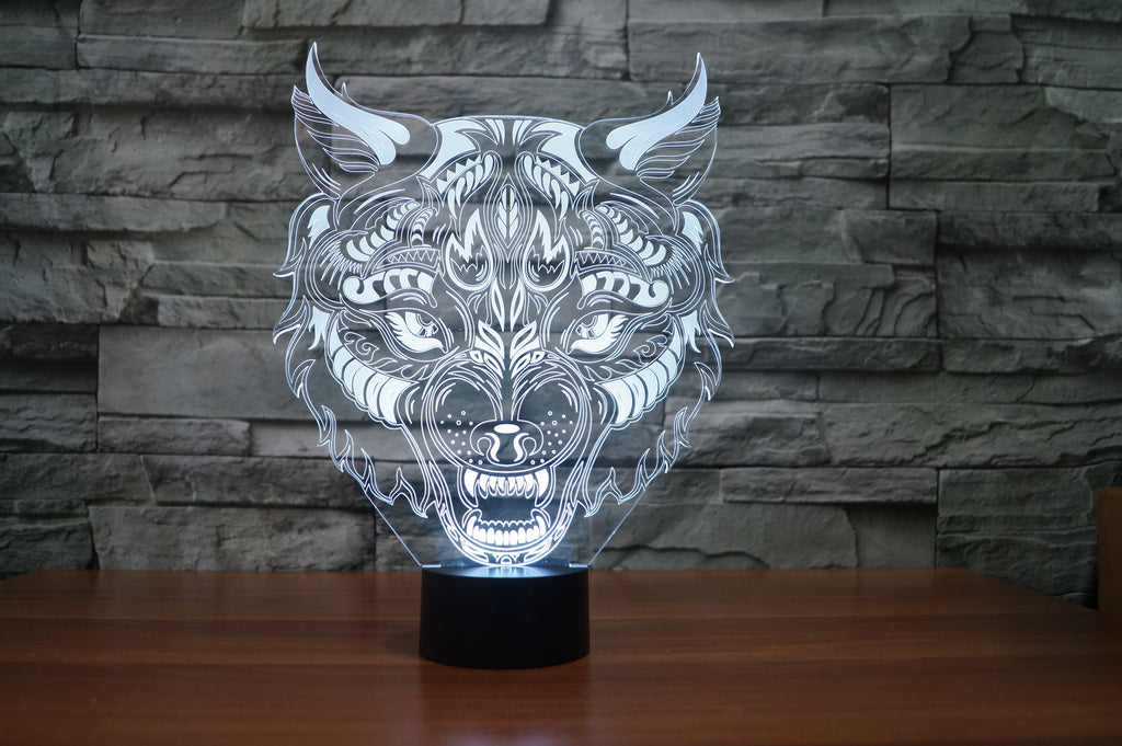 LEOPARD  3D  Lamp 8 Changeable Color  [FREE SHIPPING]
