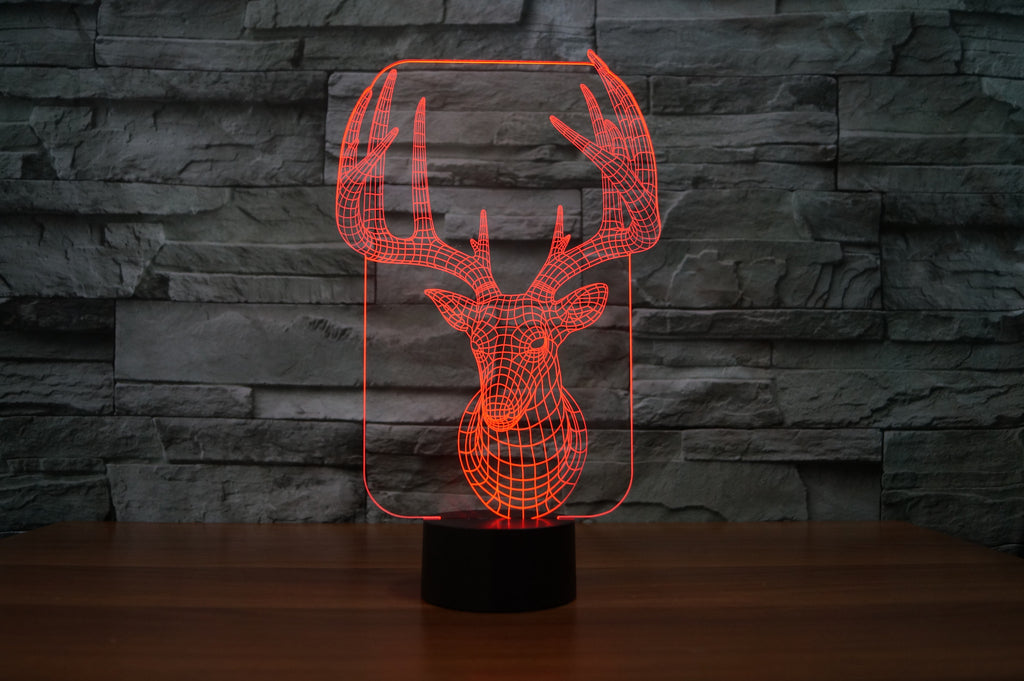 Whitetail 3D Lamp 8 Changeable Color  [FREE SHIPPING]