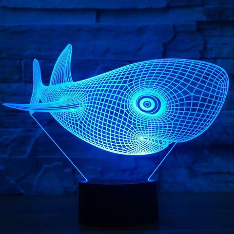 Whale 3D  Lamp 8 Changeable Color [FREE SHIPPING]