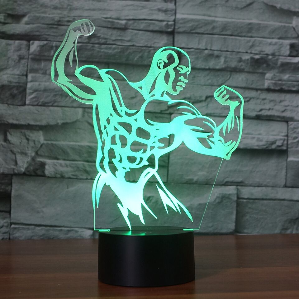 Bodybuilder 3D Lamp 8 Changeable Colors big size [FREE SHIPPING]