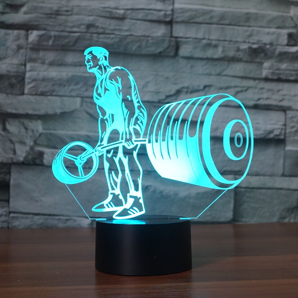Bodybuilder 2  3D Lamp 8 Changeable Colors big size [FREE SHIPPING]
