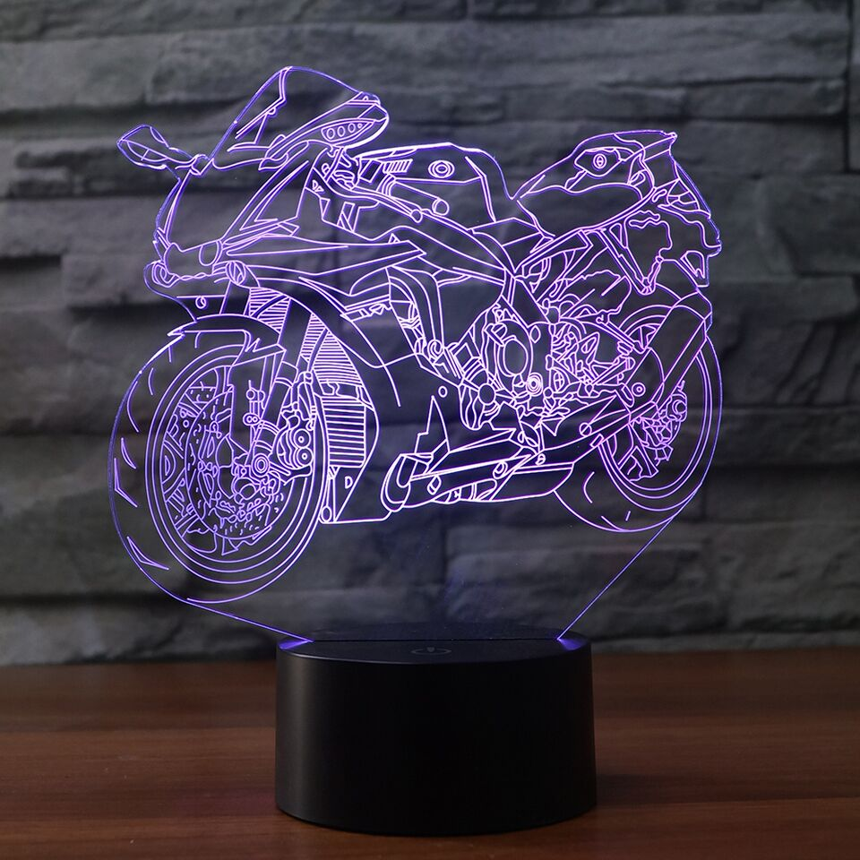 Suzuki motorcycle 3D Lamp 8 Changeable Colors big size [FREE SHIPPING]