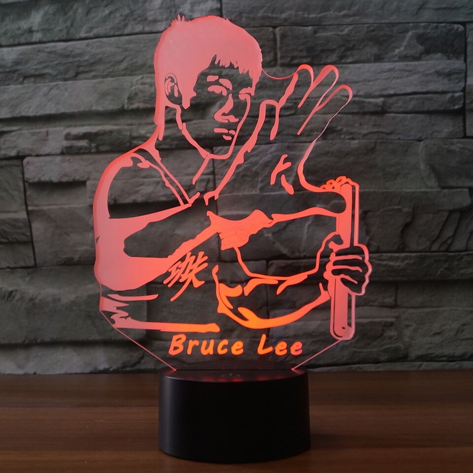 Bruce Lee 3D Lamp 8 Changeable Color [FREE SHIPPING]