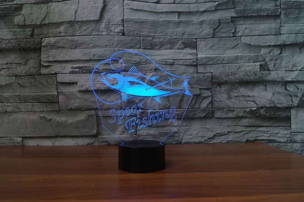 SPEAR FISHING 3D LAMP 8 CHANGEABLE COLORS