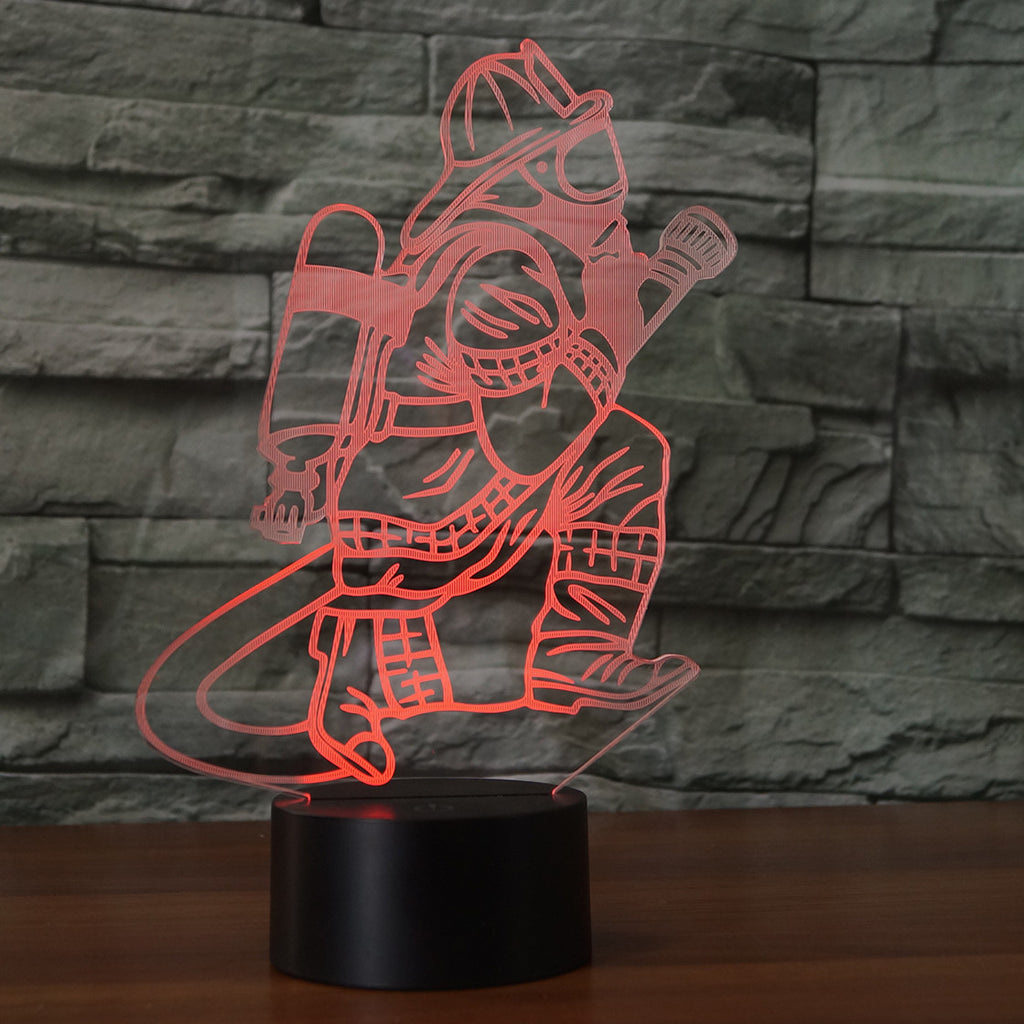 FIRE FIGHTER 3D Lamp 8 Changeable Colors  [FREE SHIPPING]