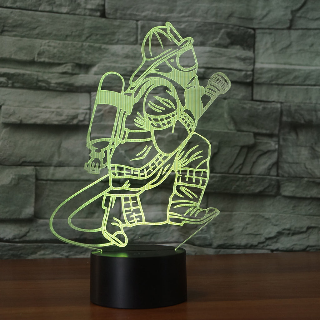 FIRE FIGHTER 3D Lamp 8 Changeable Colors big size [FREE SHIPPING]