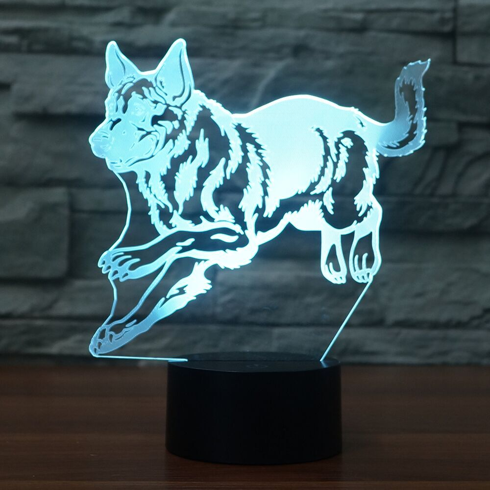 Husky 3D Lamp 8 Changeable Color [FREE SHIPPING]