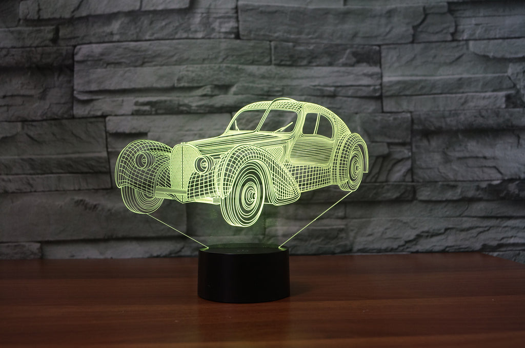 Bugatti type 57 Atlantic desert studio 3D  Lamp 8 Changeable Color [FREE SHIPPING]
