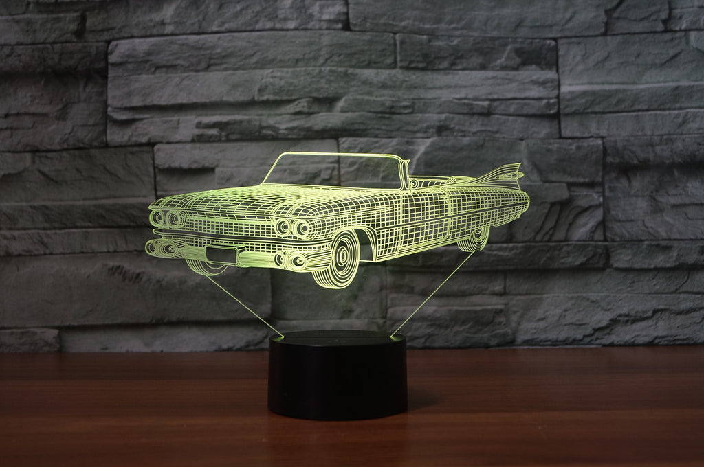 Back to the future delorean episode 2 future 3D  Lamp 8 Changeable Color [FREE SHIPPING]