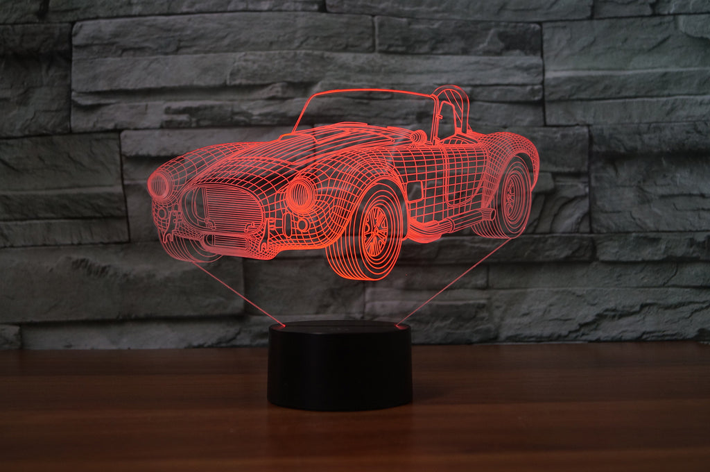 Shelby cobra 427c 1965  3D  Lamp 8 Changeable Color [FREE SHIPPING]