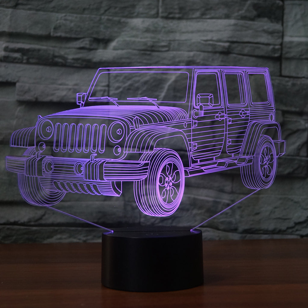JEEP 3D Lamp 8 Changeable Colors big size [FREE SHIPPING]