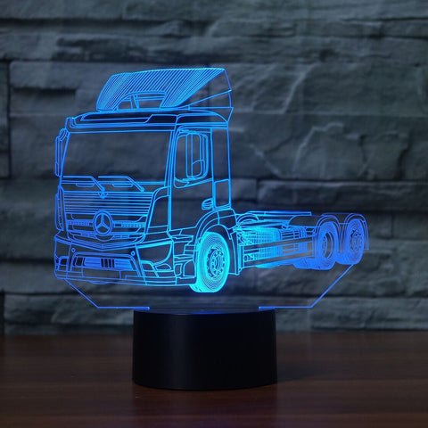 MERCEDES TRUCK 3D Lamp 8 Changeable Colors big size [FREE SHIPPING]
