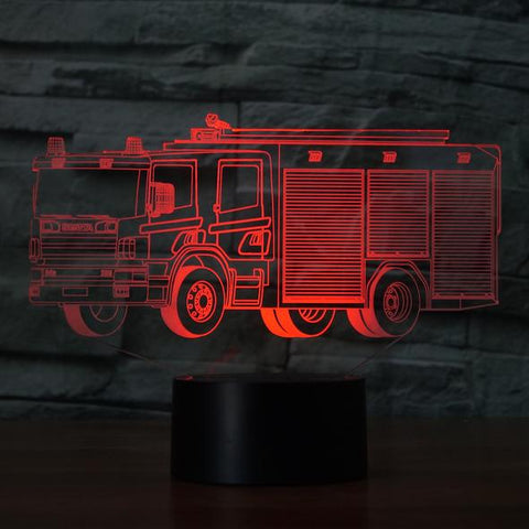 FIRE TRUCK2 3D Lamp 8 Changeable Colors big size [FREE SHIPPING]
