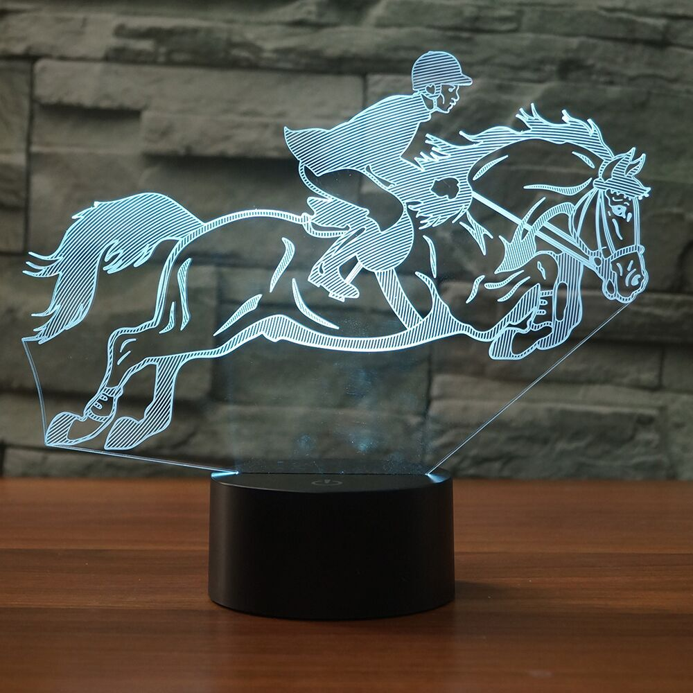 HORSE Riding 3D Lamp 8 Changeable Color [FREE SHIPPING]