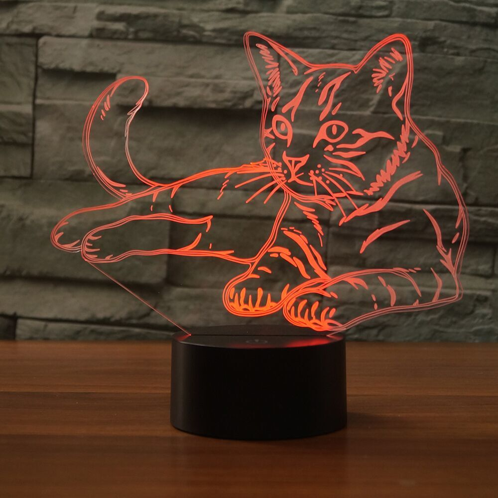 Cat 3D Lamp 8 Changeable Color [FREE SHIPPING]