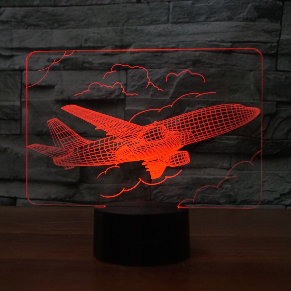 AIRPLANE   3D LAMP 8 Changeable Colors big size [FREE SHIPPING]