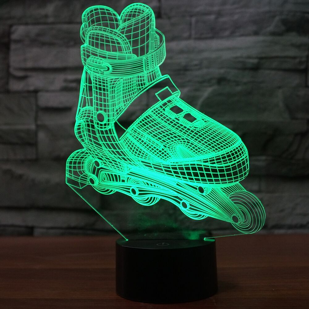 SKATING SHOE 3D Lamp 8 Changeable Colors  [FREE SHIPPING]